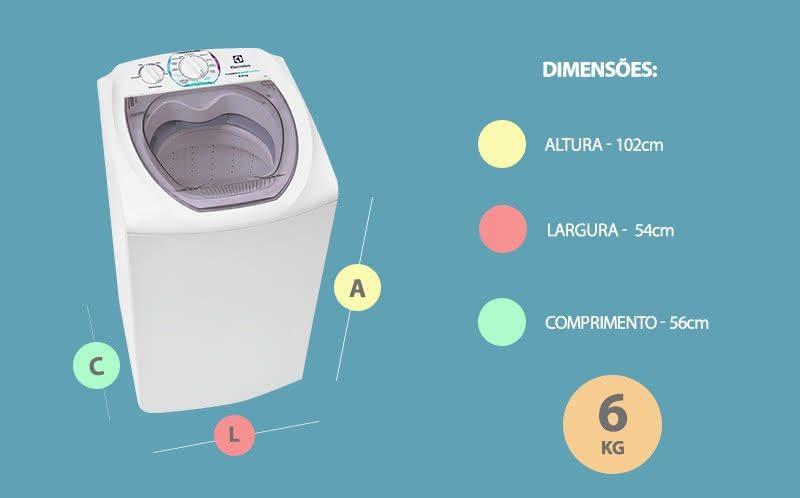 Máquina De Lavar Roupa Electrolux 6 Kg